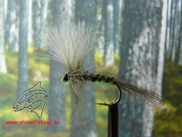 """Trockenfliege """" CDC Blue Winged Olive """""""