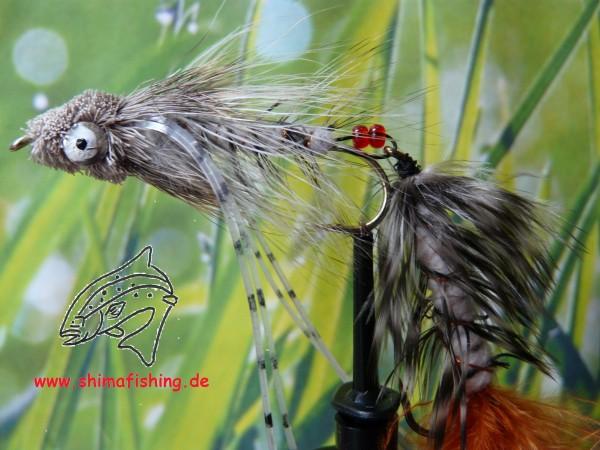 """Streamer """" Grassman Natural """" auf Schonhaken"""