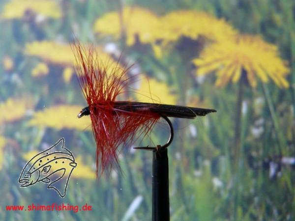 "Trockenfliege "" Great Red Sedge "" auf Schonhaken/ barbless hook"