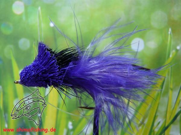 Hechtfliege Diving Minnow Black Purple