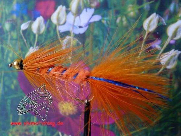 "Streamer "" Wooly Bugger Orange Bead Head """