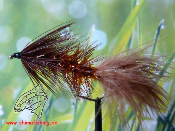 """Streamer """" Wooly Bugger Frizz Brown """""""