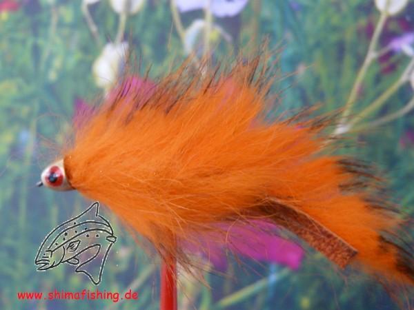 Streamer Hellhound auf Schonhaken, barbless hook