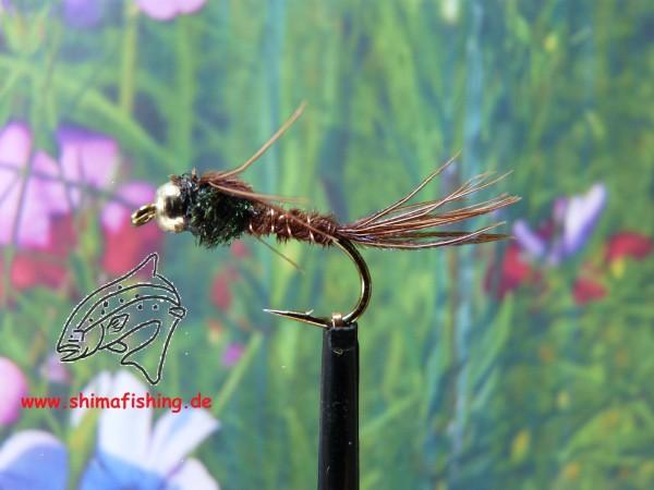 "Nymphe "" Pheasant Tail Bead Head """