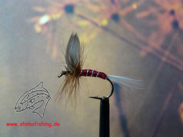 "Trockenfliege "" Spinner Red """