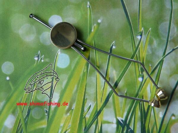 """Fliegenbinden Werkzeug """" Thumb Bobbin """" mit Keramikeinlage"""