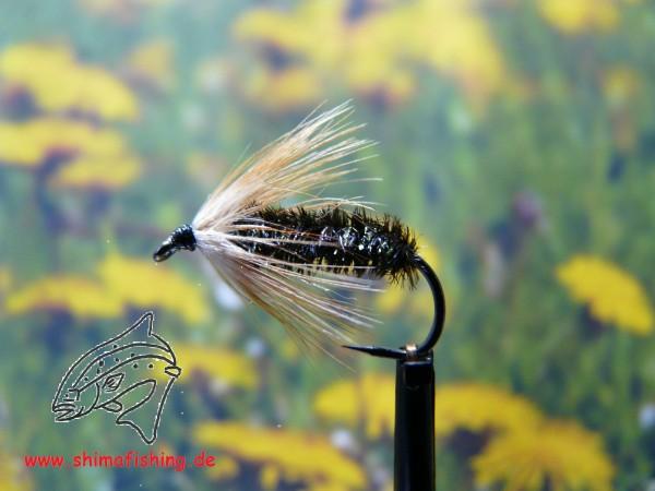 "Nymphe "" Old Stick Fly "" auf Schonhaken, barbless hook"