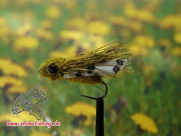 "Trockenfliege "" Cicada "" auf Schonhaken/ barbless hook"
