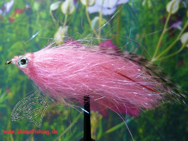 """Streamer """" Fiberfish Pink Grizzly """" auf Schonhaken"""