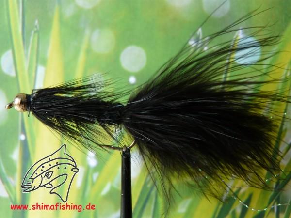 "Streamer "" Wooly Bugger Black Bead Head """