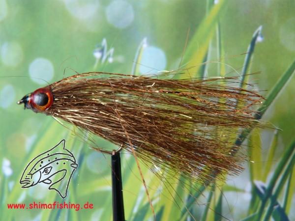 "Streamer "" Fiberfish Gold/Brown """