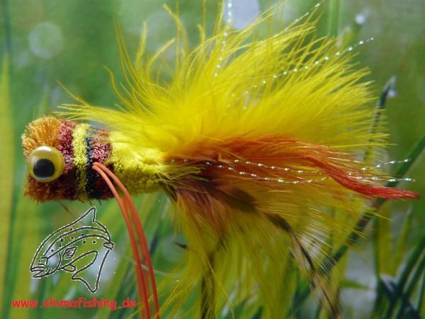 Hechtfliege Popper Yellow