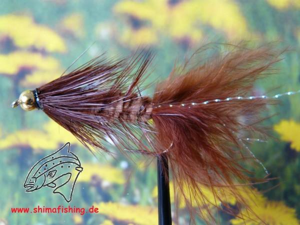 """Streamer """" Wooly Bugger Brown Bead Head """""""