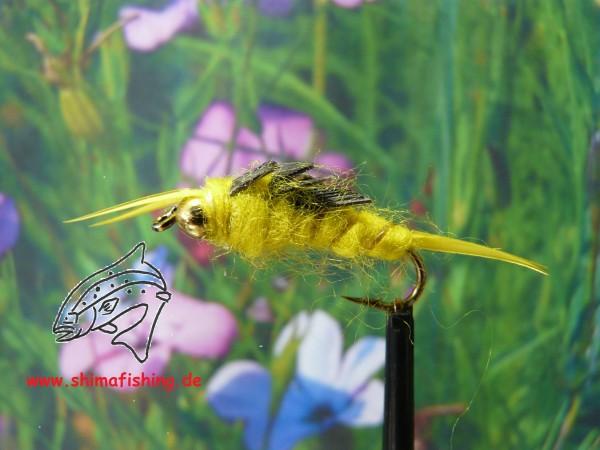 """Nymphe """" Yellow Stonefly Bead Head """""""