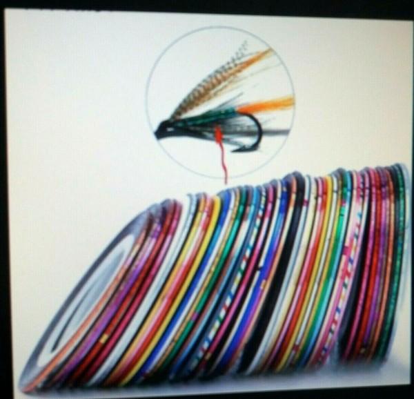 Crystal Flash auf Spulen, 14 verschiedenfarbige Röllchen , jeweils 1mm breit und ca. 20m lang